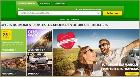 Site Internet : Europcar